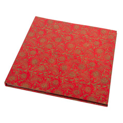 Large Hardcover Scrapbook - Red with Garden Gold pattern - Scrapbook - Anglesey Paper Company