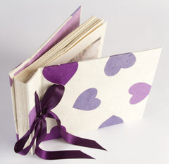 Boxed Photo Album - Lokta Hearts - Photo Albums - Anglesey Paper Company  - 7
