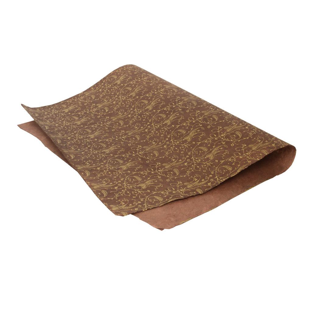 Gift Wrap - Brown and Gold Pattern - Gift Wrap - Anglesey Paper Company