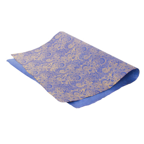 Gift Wrap - Gold Henna on Deep Blue