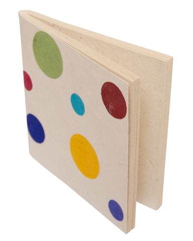 Soft cover Notebook - Polka White