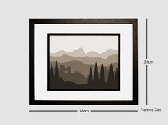 Framed Monochromatic Landscape - The Castle #1