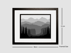 Framed Monochromatic Landscape - The Bridge #1