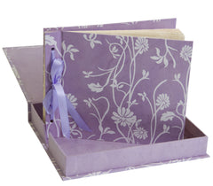 Photo Album Handmade (Boxed) - Lilac Long Poppy - Photo Albums - Anglesey Paper Company  - 1