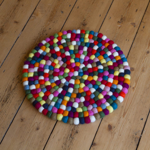 40cm - Felt Ball Mat - Large Round