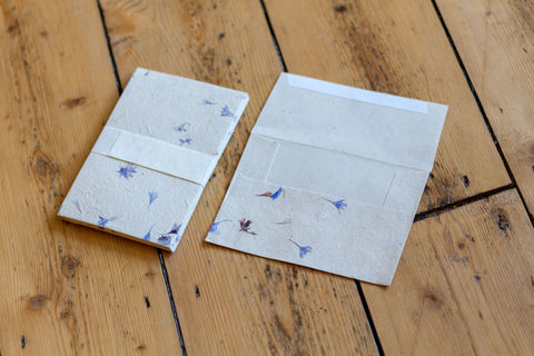 Handmade A6 Cornflower Lokta Envelopes - Pack of 10