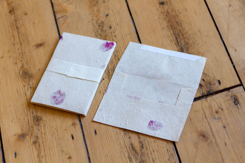Handmade A6 Rose Petal Lokta Envelopes - Pack of 10