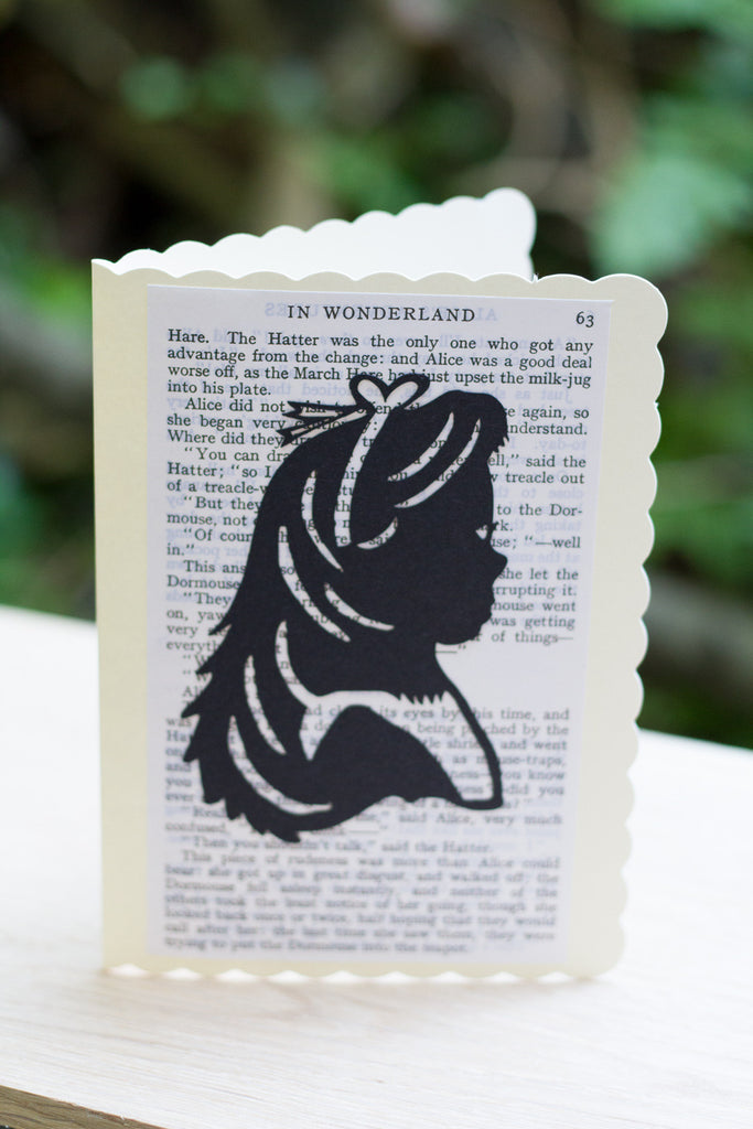 Silhouette Greeting Card – Alice in Wonderland