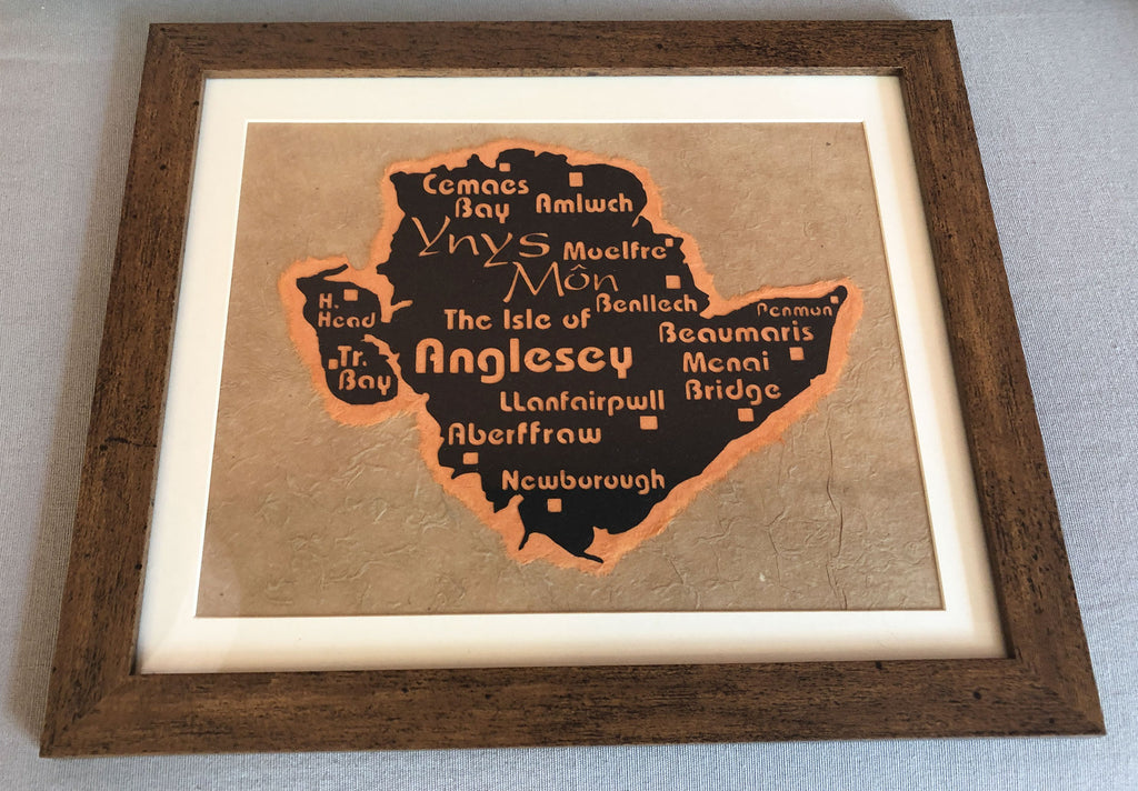 Framed Anglesey Paper Cut