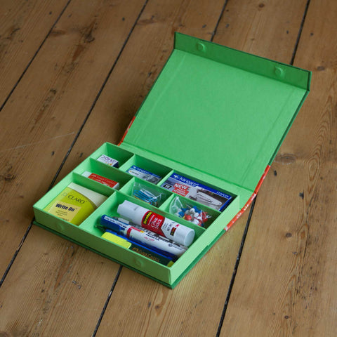 Desk Organiser - Green - Includes contents