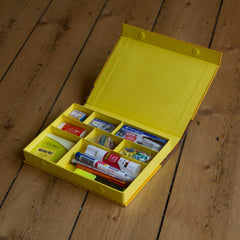 Desk Organiser - Yellow - Includes contents