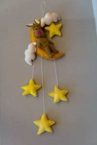 Bunny on the Moon (felt garland)