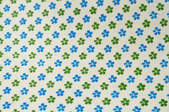 Gift Wrap - Screen Printed Blue and Green Daisy