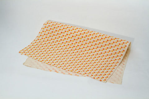 Gift Wrap - Screen Printed Orange and Yellow Daisy