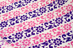 Gift Wrap - Screen Printed Pink and Purple Garland