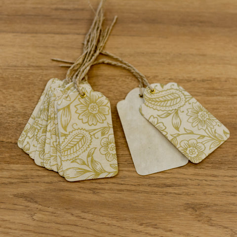 Handmade Gift Tags - Garden Gold on Natural