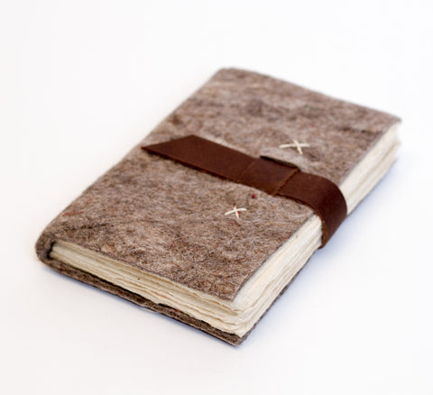 Felt Journal with Belt Fastener