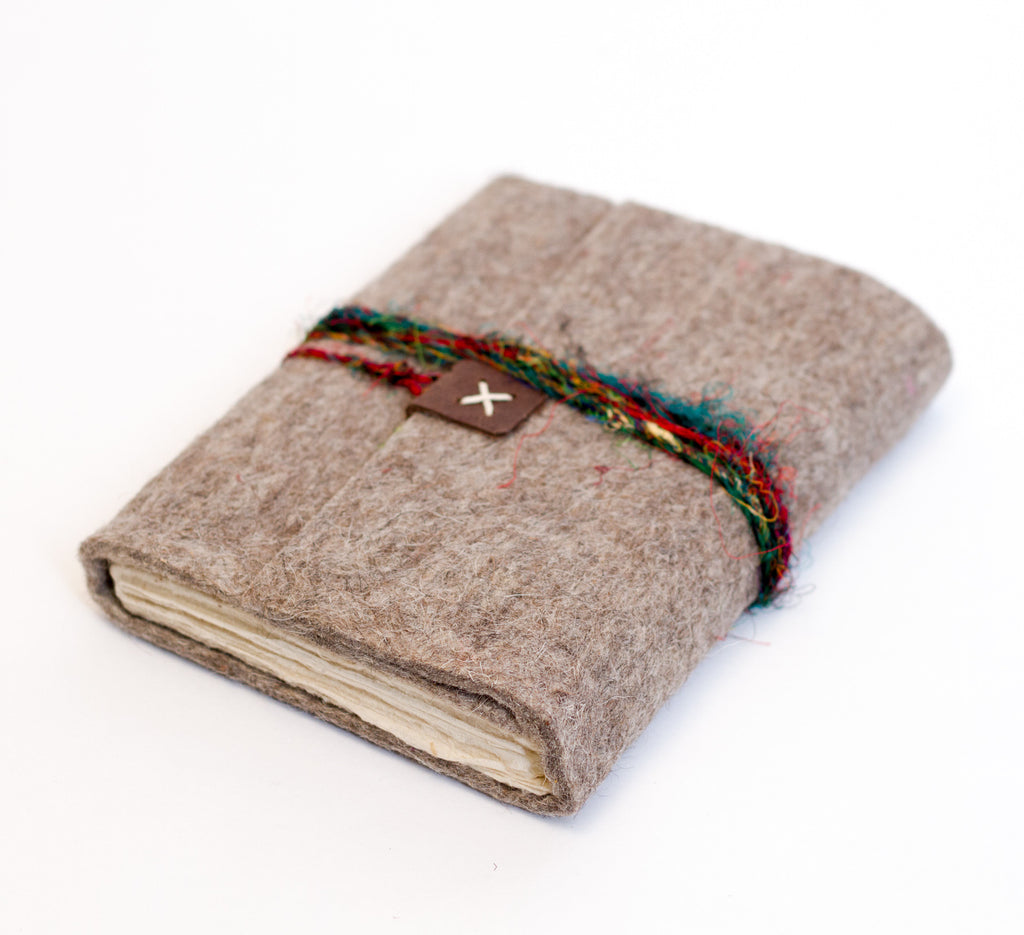 Felt Journal with Silk Strap