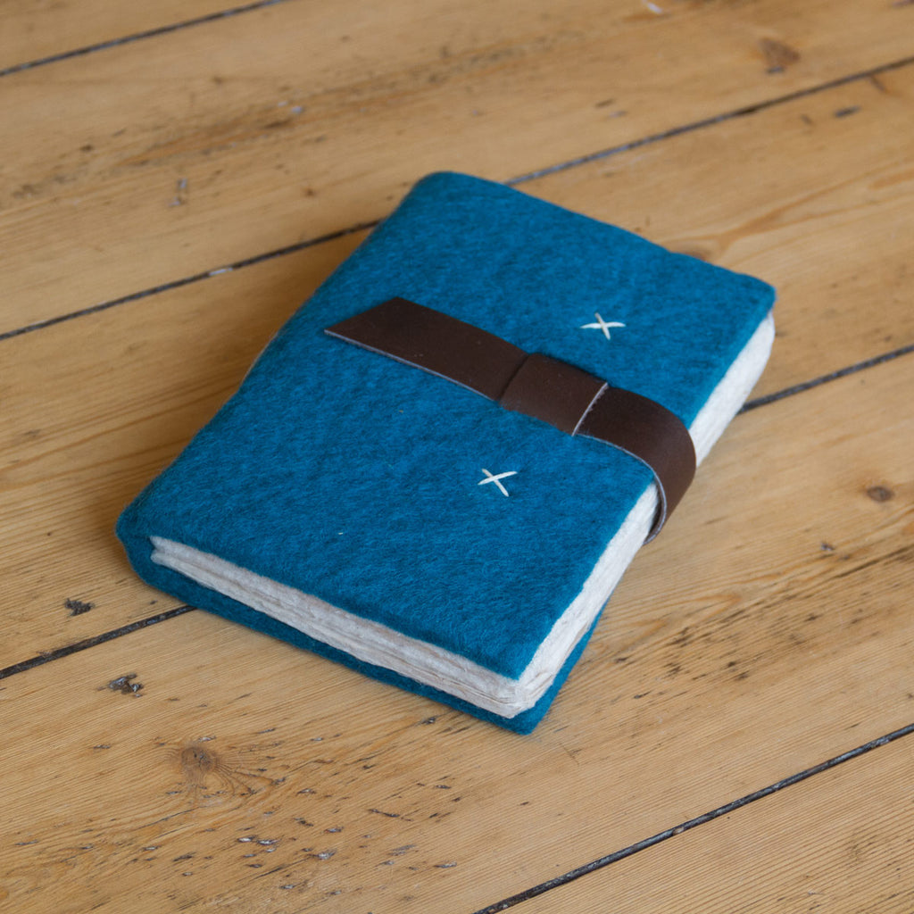 Felt Journal with Belt Fastener - Teal