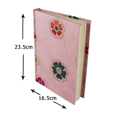 Journal - Batik Flowers Pink