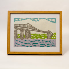 Framed Menai Bridge Paper Cut