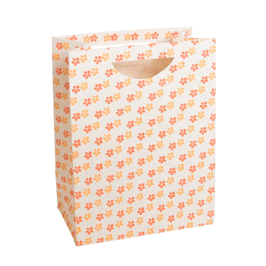 Large Gift Bag - Screen Printed Daisies