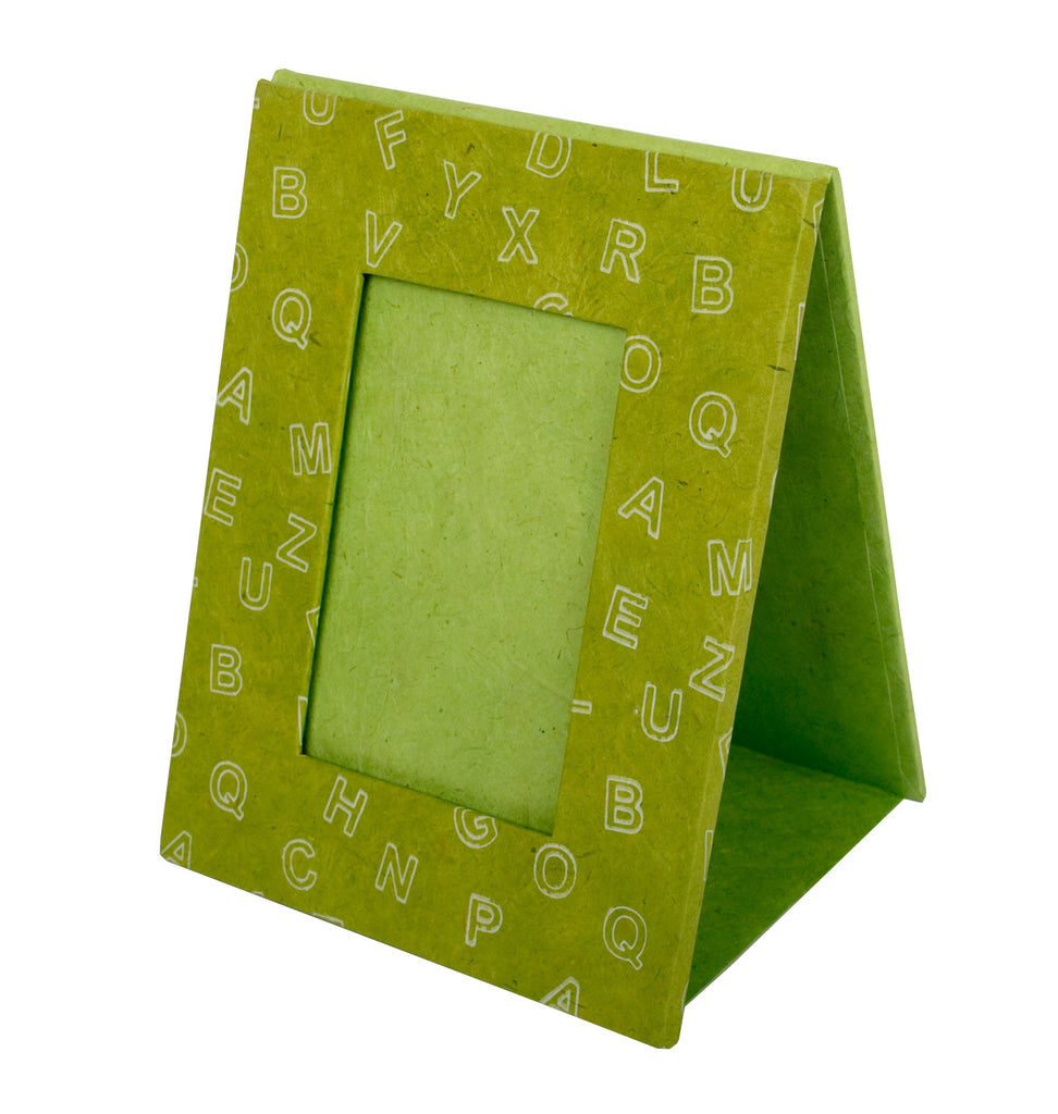 Photo Frame - Screen Printed Letters - Green - Photo Frame - Anglesey Paper Company