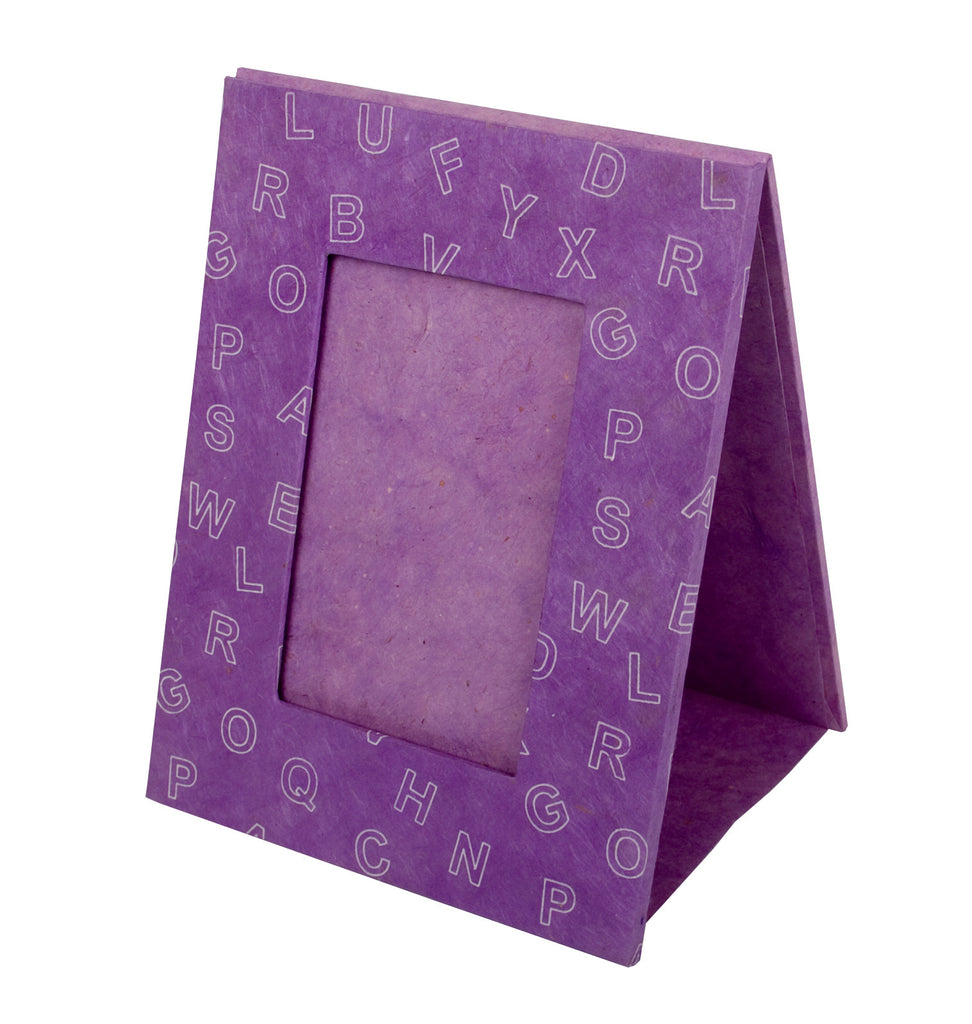 Photo Frame - Screen Printed Letters - Lilac - Photo Frame - Anglesey Paper Company