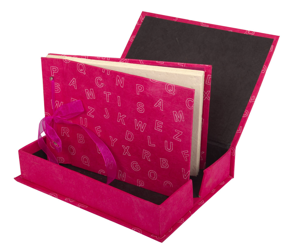 Boxed Photo Album - Letters Screen Printing - Photo Albums - Anglesey Paper Company  - 5