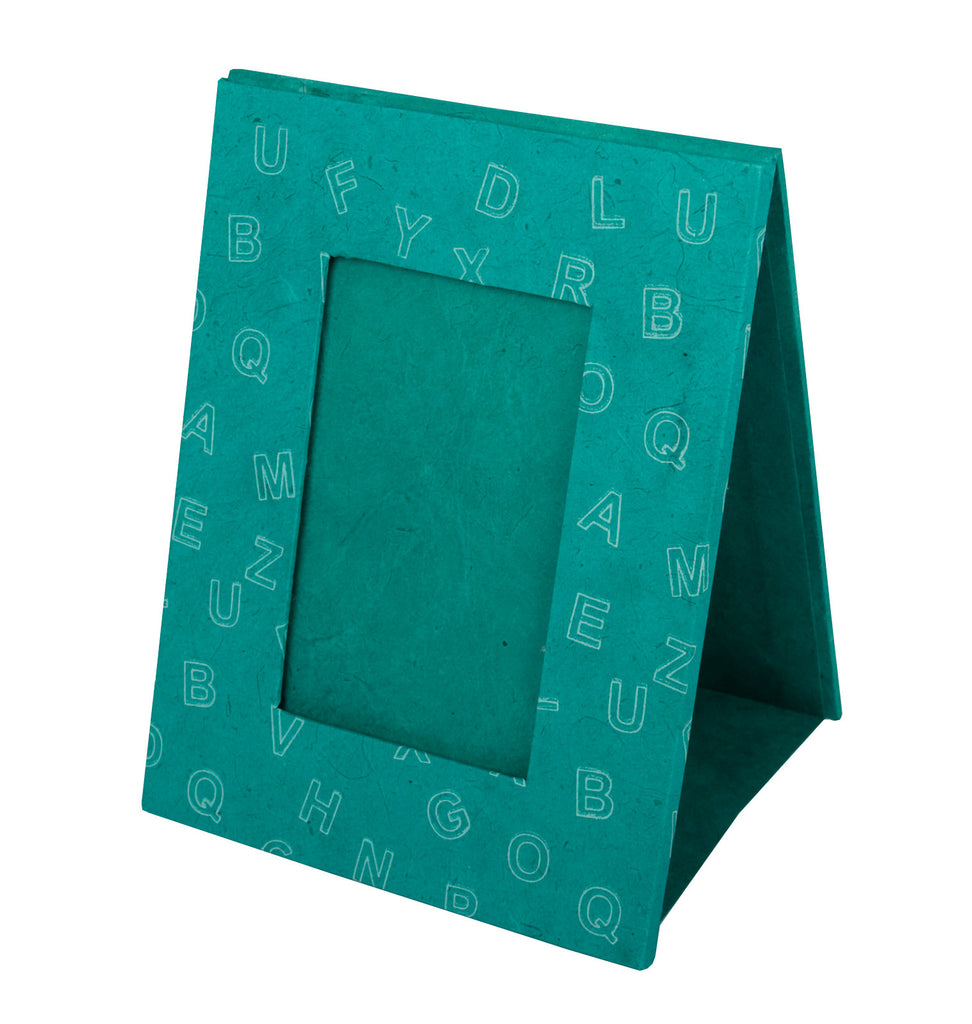 Photo Frame - Screen Printed Letters - Rainforest Green - Photo Frame - Anglesey Paper Company