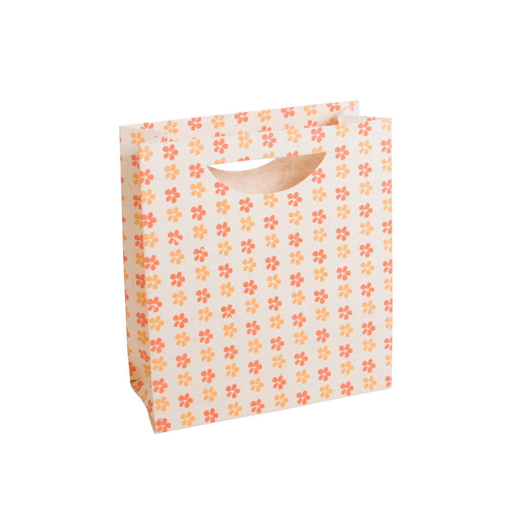 Medium Gift Bag - Screen Printed Daisies