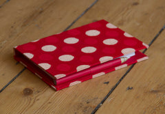 Memo Pad with Pen ~ Red with Dots