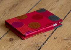 Memo Pad with Pen ~ Red with Large Dots