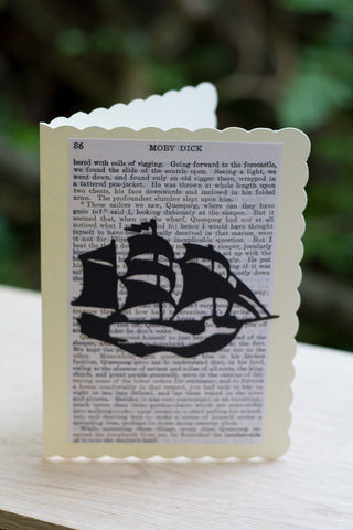 Silhouette Greeting Card – Moby Dick