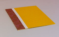 A4 Flat File with Pouch - Yellow