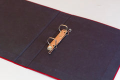 A4 Ring Binder - Burgundy Sari