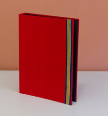 A4 Ring Binder - Red Sari