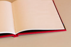 Square Hardcover Notebook - Red
