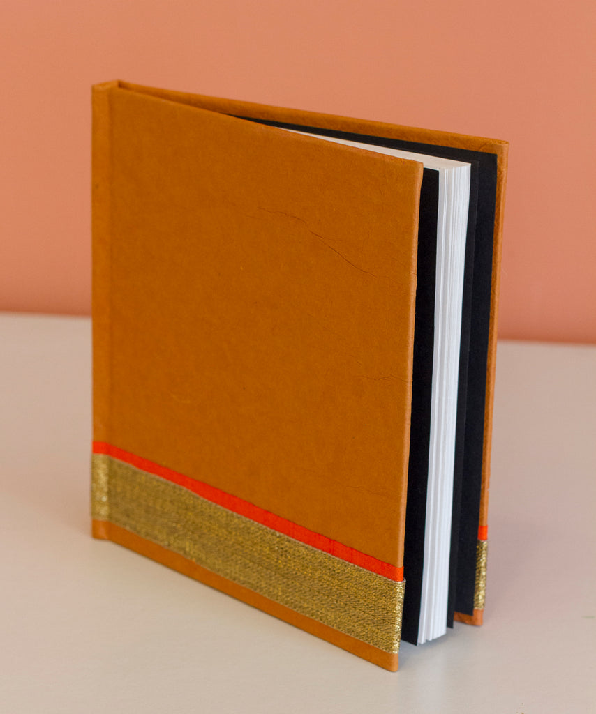 Square Hardcover Notebook - Brown