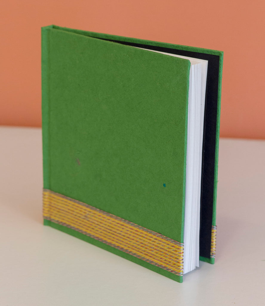 Square Hardcover Notebook - Green