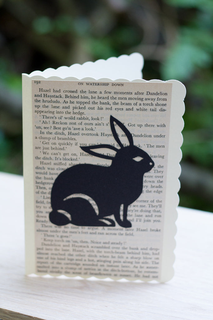 Silhouette Greeting Card – On Watership Down