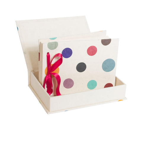 Boxed Photo Album - Polka Dots