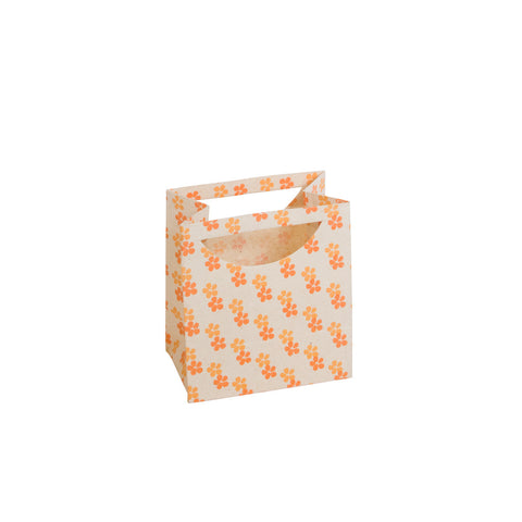 Small Gift Bag - Screen Printed Daisies