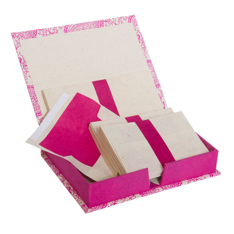 Handmade Stationery Box Set with Lokta Paper ~ Pink