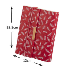 Trekker Journal - White Cedar Leaf on Red