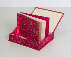 Boxed Photo Album - Batik Leaf - Photo Albums - Anglesey Paper Company  - 4