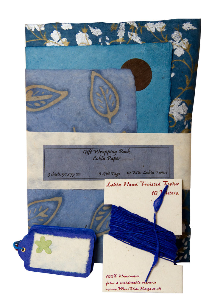 Gift Wrap Pack - Blues - Gift Wrap Packs - Anglesey Paper Company