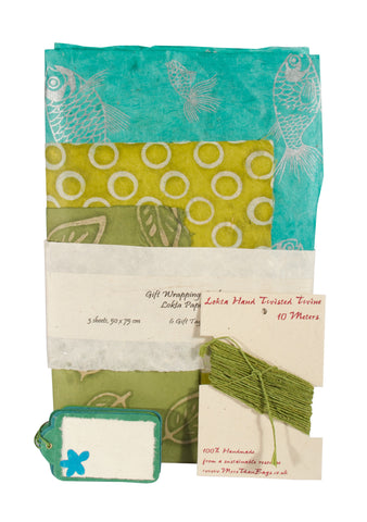 Gift Wrap Pack - Greens