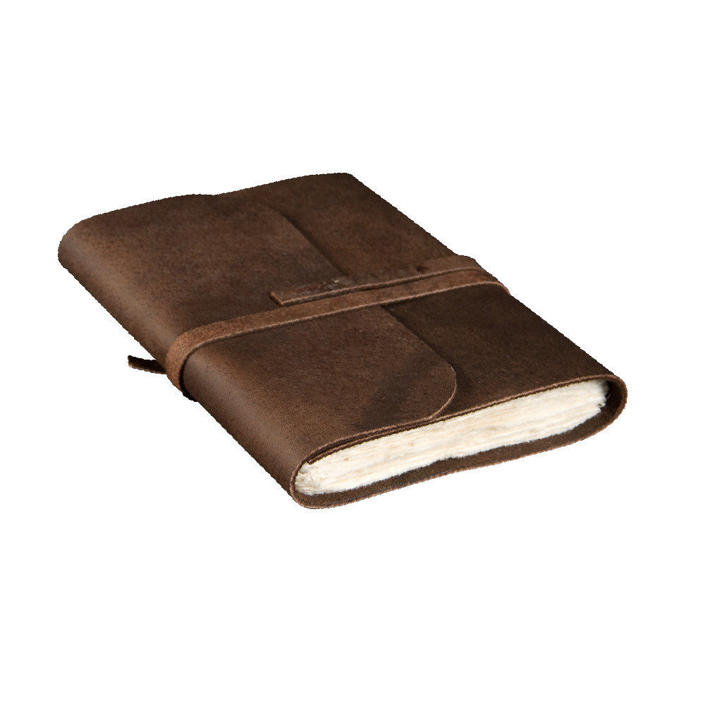 Large Buffalo Leather Journal - Leather Journal - Anglesey Paper Company  - 1