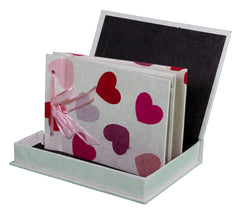 Boxed Photo Album - Lokta Hearts - Photo Albums - Anglesey Paper Company  - 1